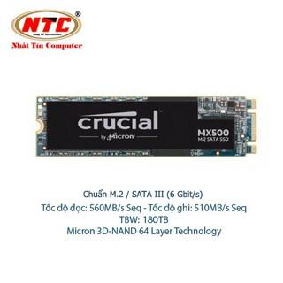 [Mã ELCLDEC giảm 7% đơn 500K] Ổ Cứng SSD M2 Crucial MX500 dung lượng 500GB Chuẩn giao tiếp SATA III 6Gbit s (Đen) thumbnail