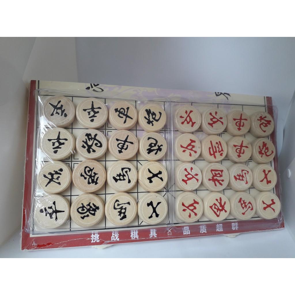 Bộ cờ tướng bằng gỗ Siêu to, Siêu sắc nét giá hạt rẻ – Quân cờ 3cm – 4cm, bàn KT 34x31cm – 44x38cm