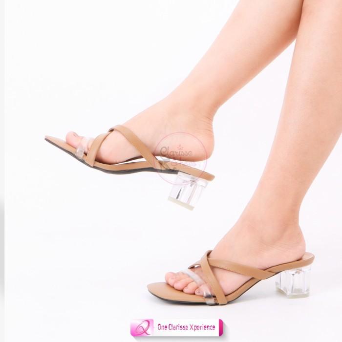 Giày Cao Gót Phối Dây Quai Kính Ev846 Thời Trang Cho Nữ