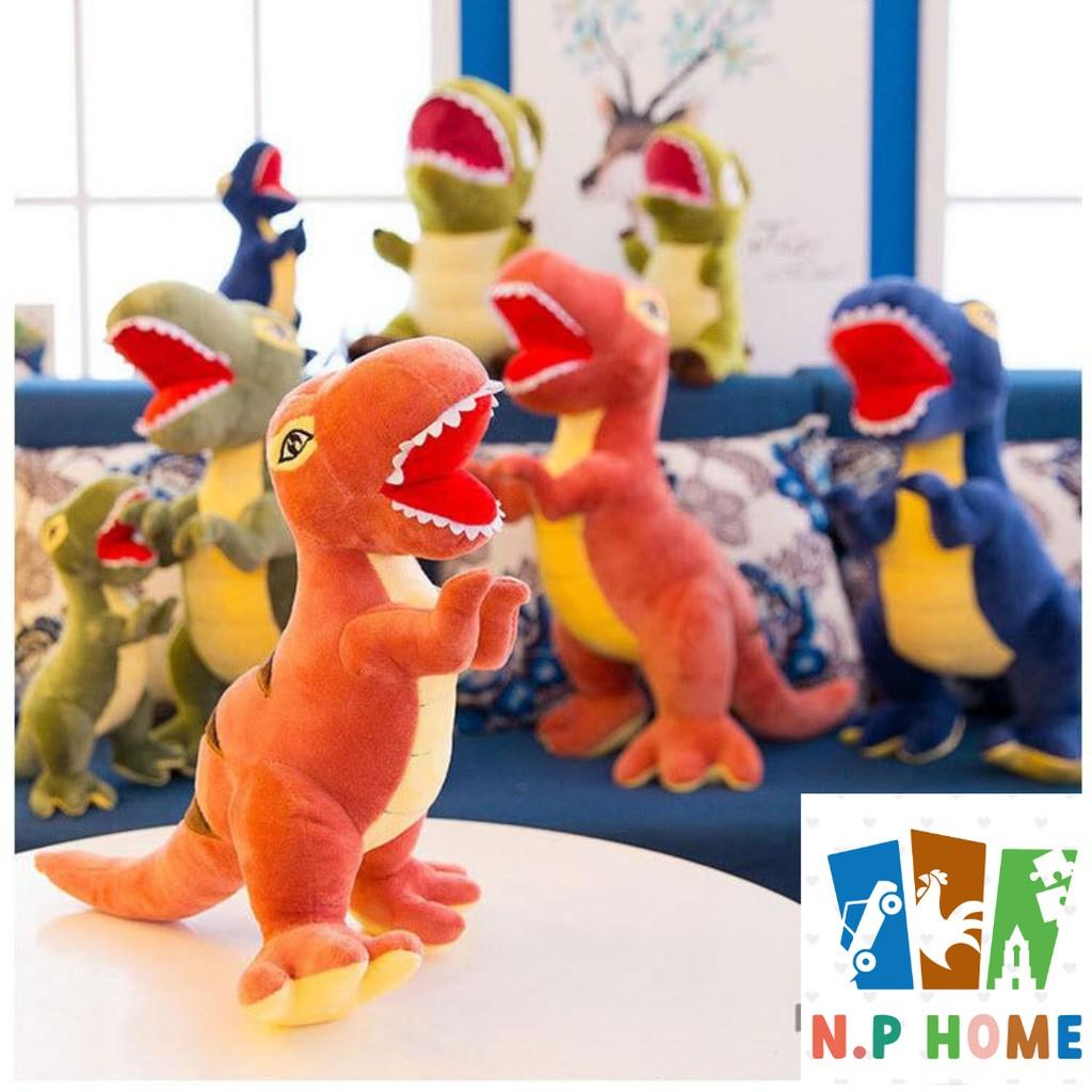 Thú bông khủng long bạo chúa hùng dũng – Hàng nhập khẩu loại 1 siêu mịn màu đỏ/ xanh dương/ xanh lá
