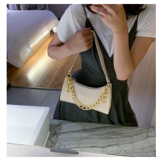 Túi kẹp nách Ngọc Trinh túi xách nữ đeo vai đeo chéo xách tay da vân cá sấu hàng 3 dây mẫu mới nhất TKNA03 + hình thật