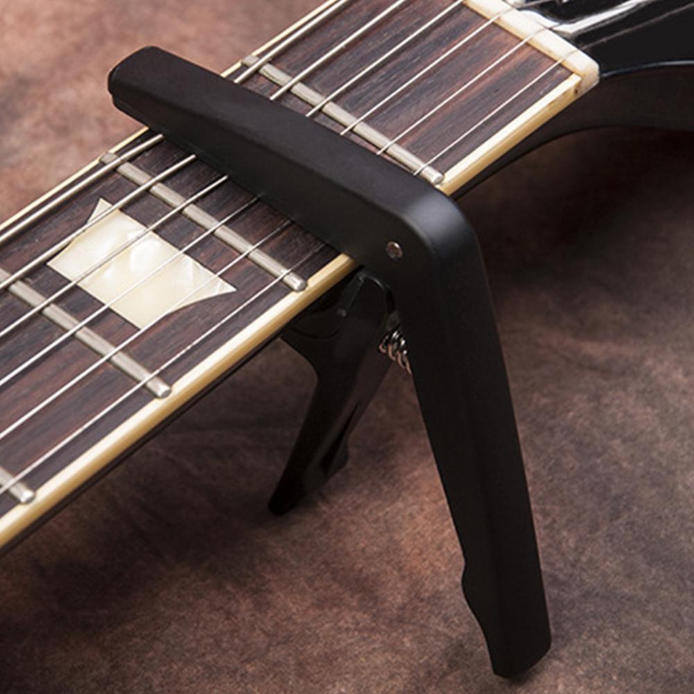2-in-1 Durable Single-handed Guitar Capo Portable Zinc Alloy Wear