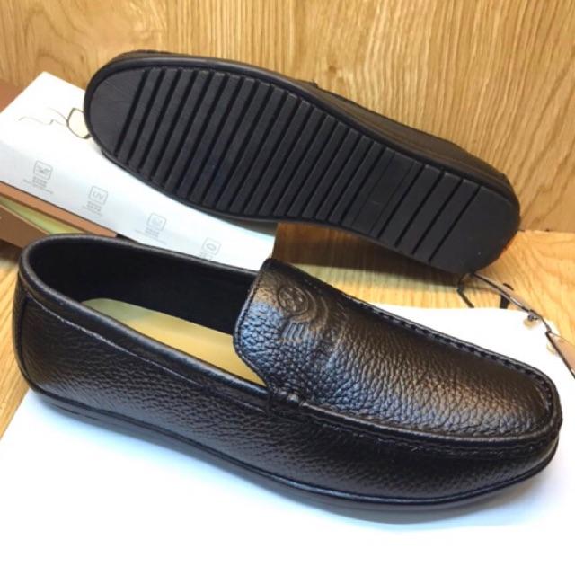 💥TẶNG LÓT DA💥 Giày Lười Nam- Giày Mọi Nam Da Bò Mềm