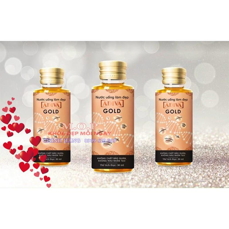 (Chính hãng) Combo 02 Hộp Collagen Adiva GOLD (14 lọ/ hộp)