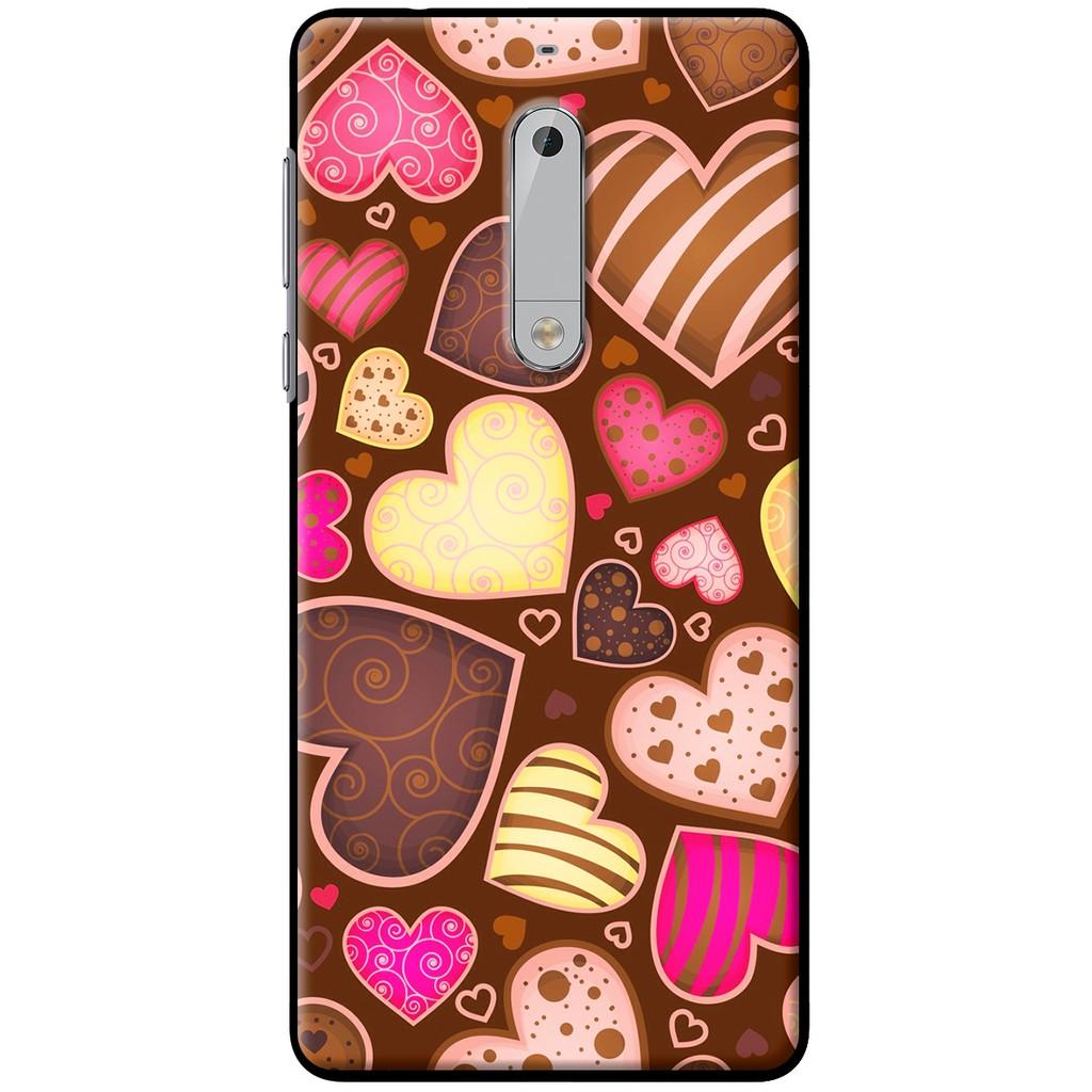 Ốp lưng dẻo Nokia 5 Socola heart