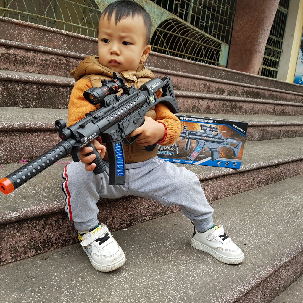 Đồ chơi súng laze ánh sáng nhạc dùng pin cho bé G03 (Tặng kèm pin)