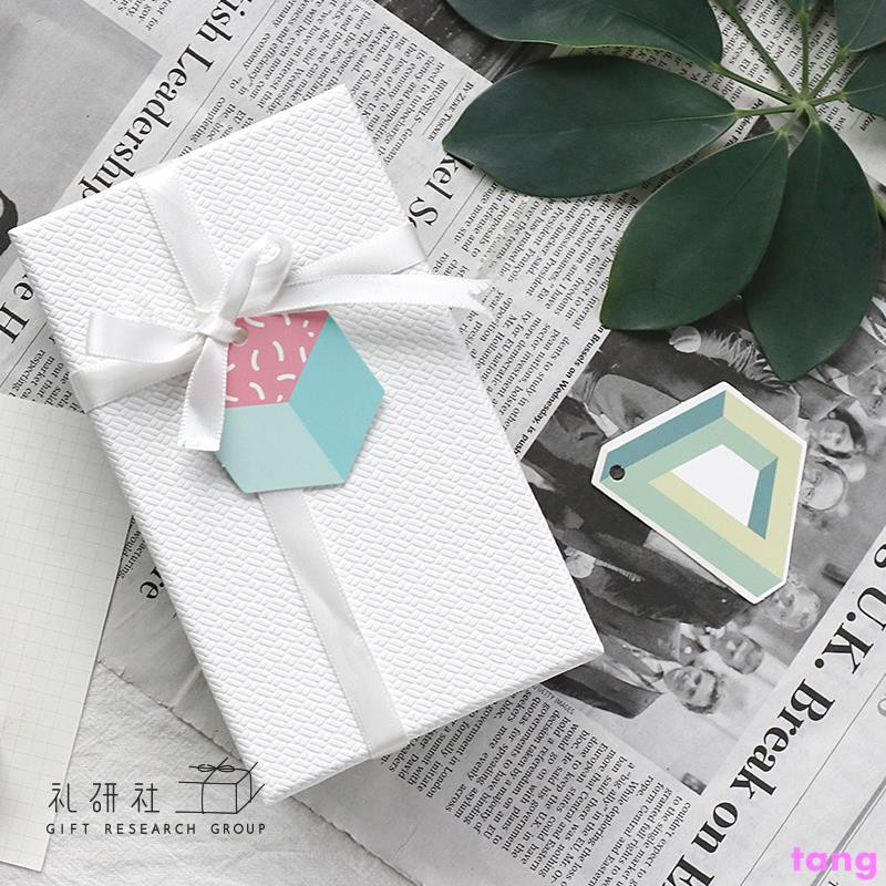 Korean version of the fresh gift decoration message tag label small card ins win