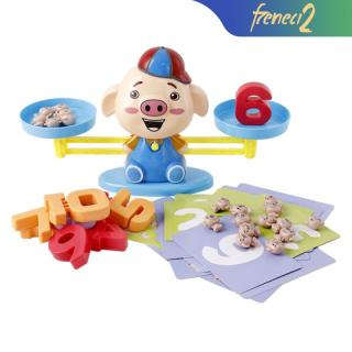 Pig Balance Scale Toys, Maths Addition and Subtraction Early Learning Toys Preschool Kids Early Development