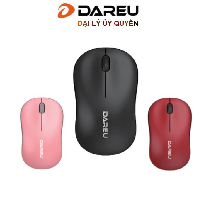 Chuột không dây Dareu LM106G Black/ Red /Blue / Pink - Bảo hành 24 tháng
