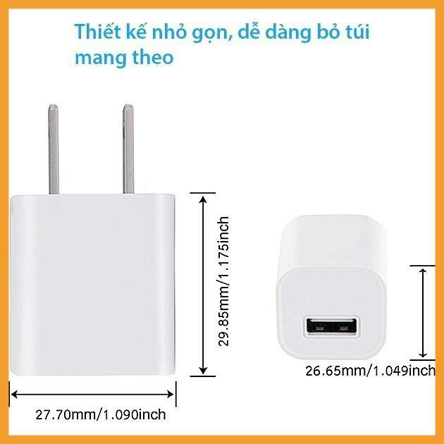 Cục sạc/ Củ sạc iPhone/USB/Adroid A21 tương thich mọi thiết bị qua cổng USB Giá Tốt
