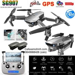 Flycam sg907 camera 4k xoay 90 độ có GPS bay 500m tự bay về & Wifi 5Ghz pin nâng cấp 1600mah