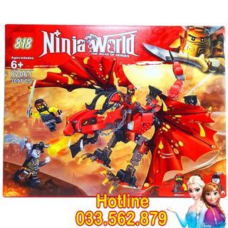 Bộ Lego Xếp Hình Ninjago Siêu Rồng Đỏ. Gồm 309 Chi Tiết. Lego Ninjago Lắp Ráp Đồ Chơi Cho Bé