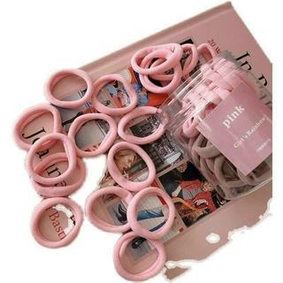 Hộp 50 dây buộc tóc nhiều mầu dùng cho cả mẹ và con gái