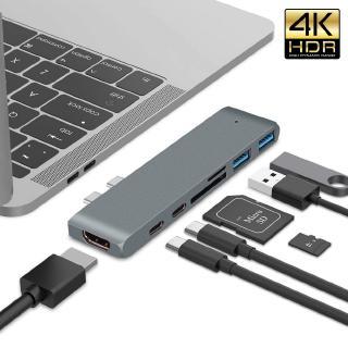 Bộ HUB GOOJODOQ chuyển đổi USB Type-C sang HDMI 4K với 2 cổng USB 3.0 cho Macbook Pro 2018