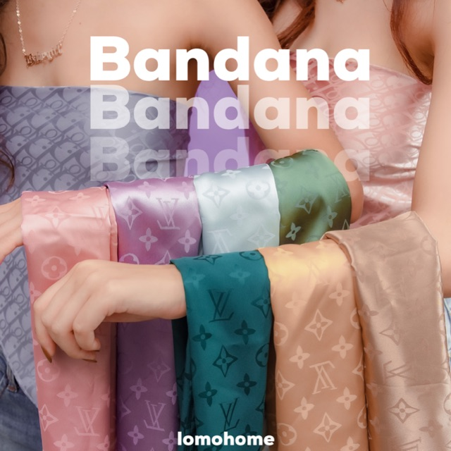 Khăn Choàng Bandana đội đầu , áo yếm 60x60cm | Lomo Home |