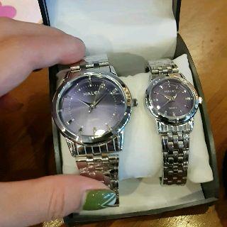 Đồng hồ nữ HALEI 502 chống nước dây bạc Tặng Pin Dự Phòng