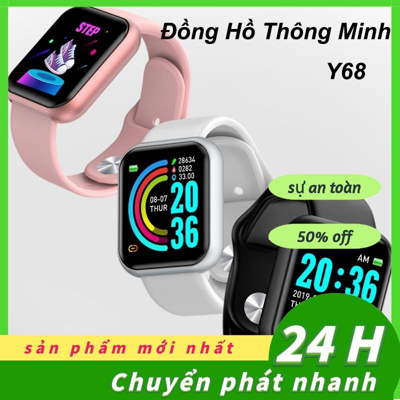 Đồng Hồ Thông Minh Y68 Chống Nước Kết Nối Bluetooth Theo Dõi Sức Khỏe