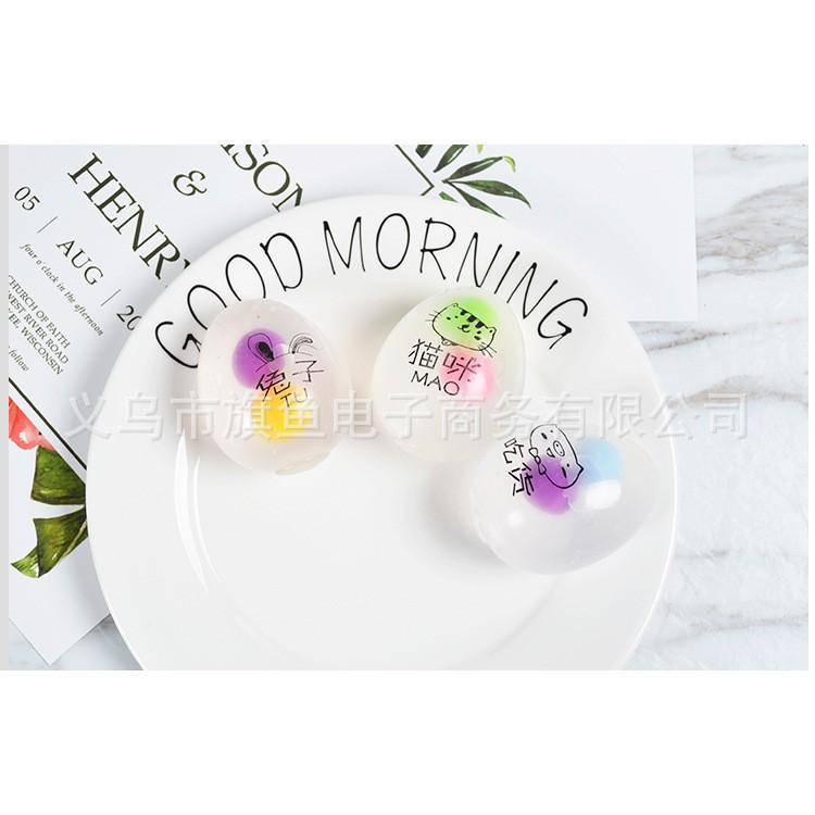 đồ chơi gudetama trứng bóp trút giận 3 lòng có màu sắc mã TSE16 Obán nốt nghỉ