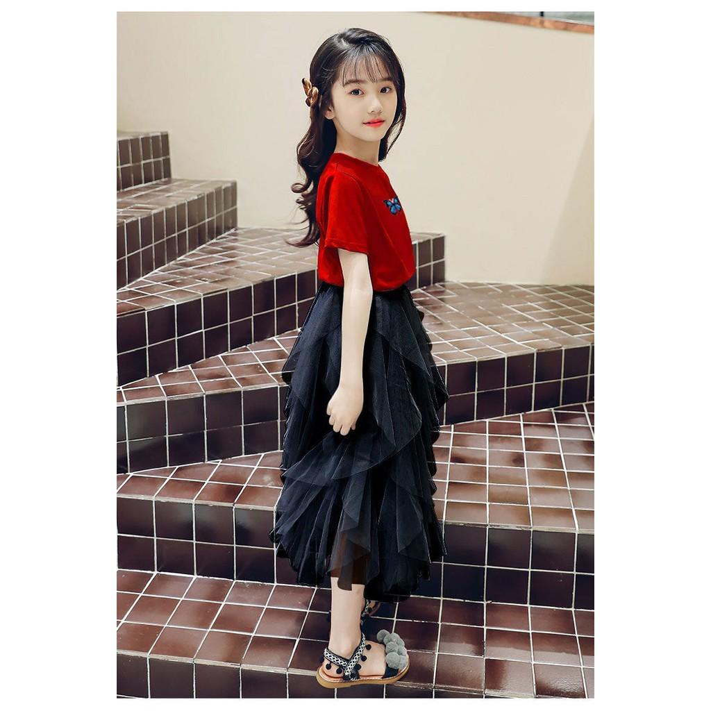Áo đầm bé gái 12 tuổi (3 - 12 tuổi) ️ váy bé gái 4 tuổi ️ thời trang cho bé  gái 16 tuổi chính hãng 172,800đ