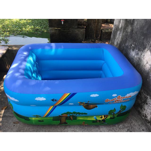 Bể bơi cho bé hình chữ nhật 1m3 3 tầng ( 130cm x 95cm x 55cm)