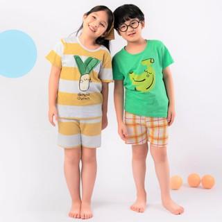 Bộ đồ ngắn bé gái, bé trai Unifriend Hàn Quốc cho bé 1-10 tuổi