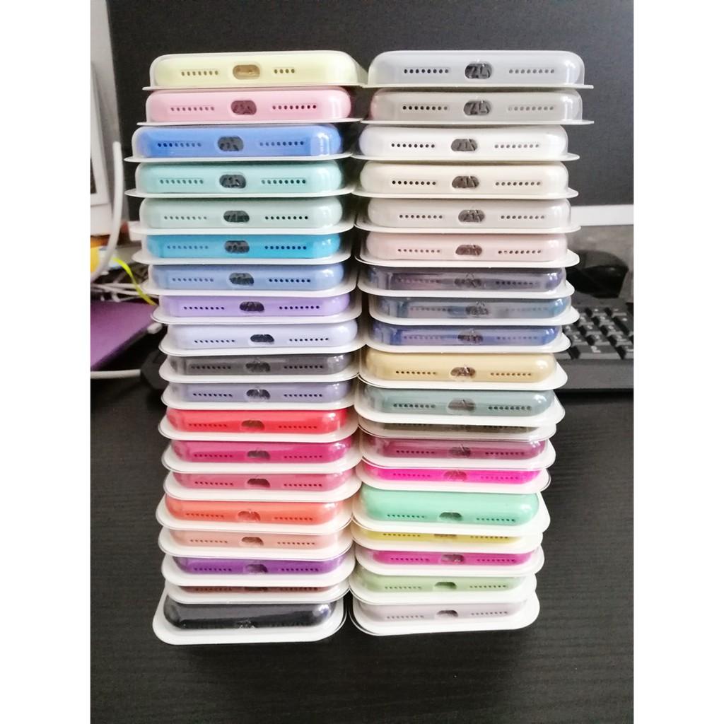 Ốp điện thoại silicon màu trơn dành cho iPhone 11 Pro Max X XS Max XR 7 8 6s 6P 7P 8P