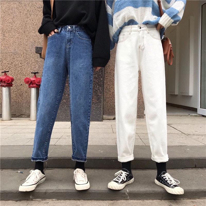 Quần jeans dài lưng cao ống rộng thời trang cho nữ - 14213840 , 2029960027 , 322_2029960027 , 299880 , Quan-jeans-dai-lung-cao-ong-rong-thoi-trang-cho-nu-322_2029960027 , shopee.vn , Quần jeans dài lưng cao ống rộng thời trang cho nữ
