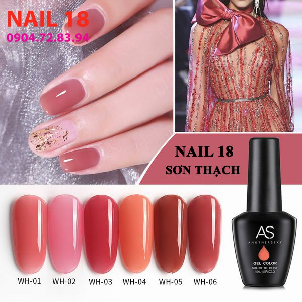 Sơn Gel AS, Pink series, chuỗi sơn thạch WH