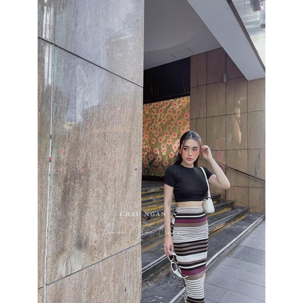 Set đồ nữ cá tính, set váy dài áo thun đi chơi sang chảnh mùa hè đẹp YA151