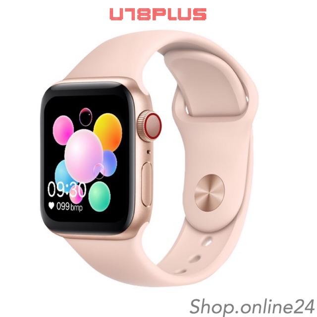 Đồng Hồ Thông Minh U78 Plus Thay ảnh nền Nghe gọi Tích hợp Núm xoay Nút nguồn Siri Pin trâu Kết nối Bluetooth 5.0