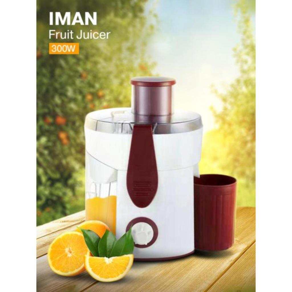 เครื่องใช้ไฟฟ้า เครื่องคั้นน้ำผลไม้ IMAN จำนวน 1 เครื่อง กำลังไฟฟ้า : 300 Wครื่องใช้ไฟฟ้า เครื่องคั้นน้ำผลไม้ IMAN จำนวน
