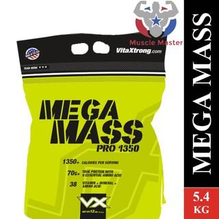 ❄[TẶNG BÌNH] Thực Phẩm Bổ Sung Tăng Cân và Cơ Nạc VitaXtrong Mega Mass Xtreme 1350 5.4kg