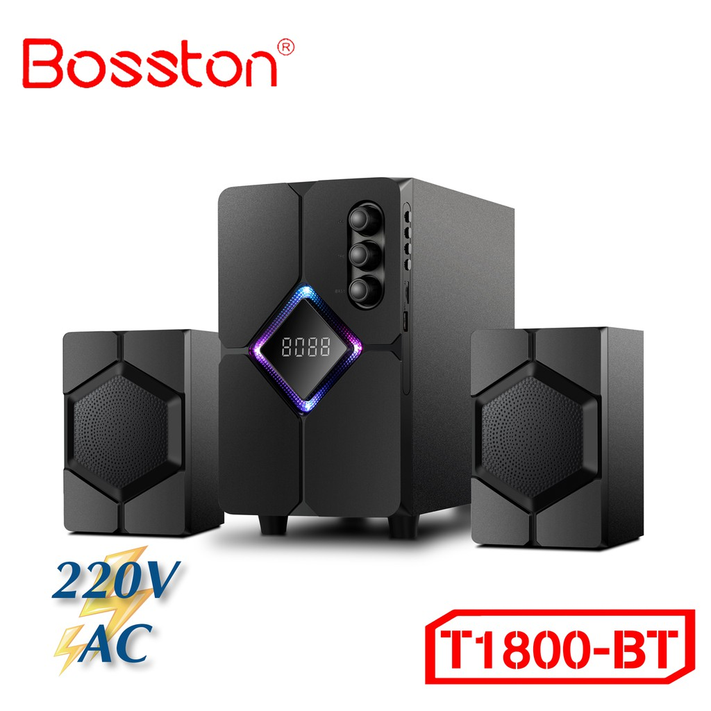 Loa Bosston Bluetooth T1800-BT 2.1 Đèn Led RGB