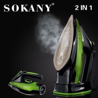 [XẢ KHO] Bàn là hơi nước cầm tay không dây SONAKY 2400W ủi nhanh, có 5 nút điều chỉnh ủi mọi loại vải