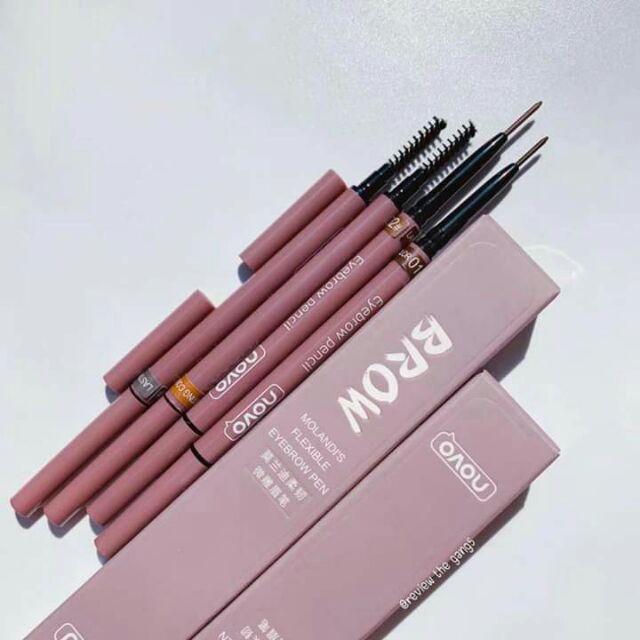 พร้อมส่ง! ดินสอเขียนคิ้ว NOVO รุ่น Molanddi's Flexible Eyebrow pen