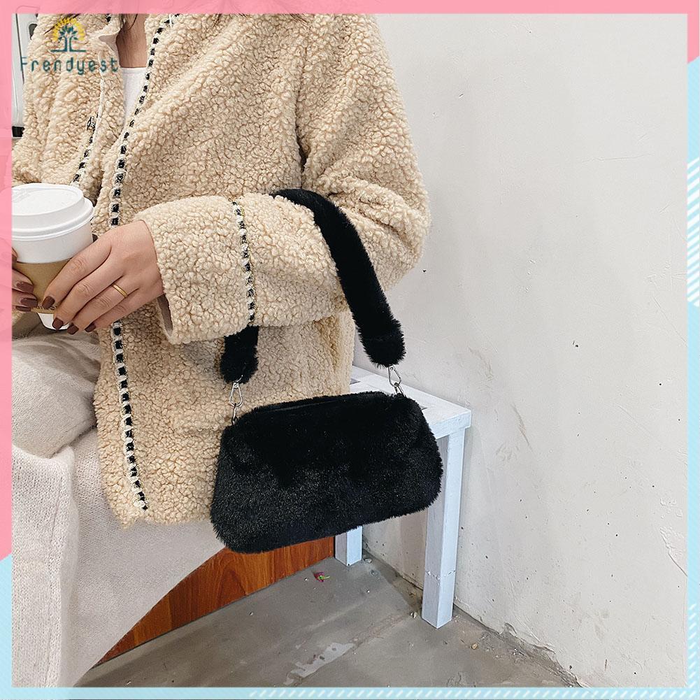 Túi xách bằng vải lông họa tiết da động vật dễ thương thời trang cho nữ