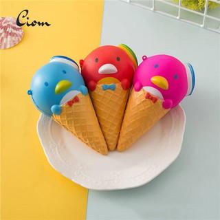 Ciom Penguin Ice Cream Squishy Slow Rising Squeeze Toys