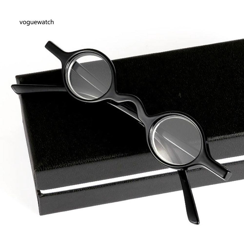 VGWT_Unisex Small Round Lens Reading Eyeglasses with Case +1.0 +1.5 +2 +2.5 +3 +3.5