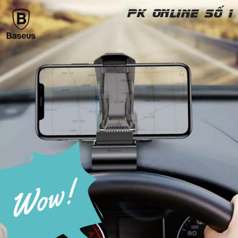 Bộ đế giữ điện thoại dùng trong xe hơi Baseus Mouth Car Holder (Mount Clip, Clamp Adjustable Phone Holder Stand)