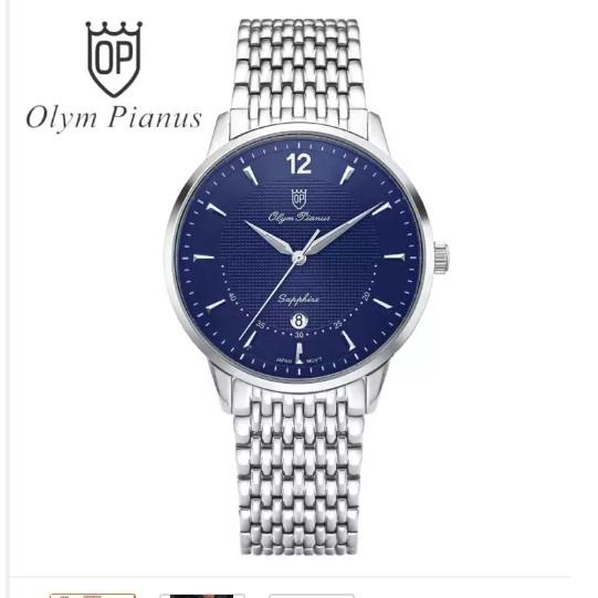 Đồng hồ nam mặt kính sapphire Olym Pianus OP5709MS xanh
