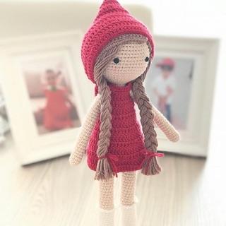 Bup bê HandMade – đồ chơi bằng len – thú bông HandMade – bupbe công chúa bằng len- đồ chơi quà tặng – thú bông len aria