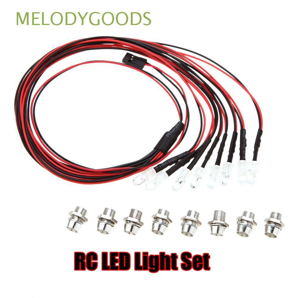 5mm 8 LEDs Cool Fashion Upgrade Parts White/Red Color Power Supply 1/10 LED Light Set