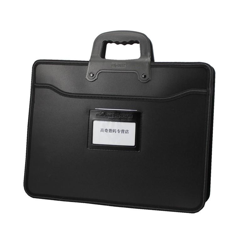 ปลั๊ก A4 นามบัตรแพคเกจไฟล์แบบพกพาความจุขนาดใหญ่กระเป๋าเอกสารกระเป๋าประชุมถุงข้อม