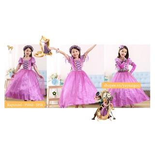 Váy Công chúa Tóc Mây Rapunzel có bao tay – P1848