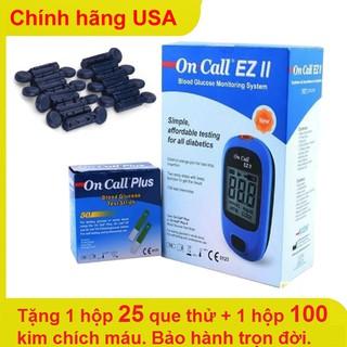 Chính hãng - Máy đo đường huyết Acon USA Oncall EZ II dành cho người tiểu đường thumbnail