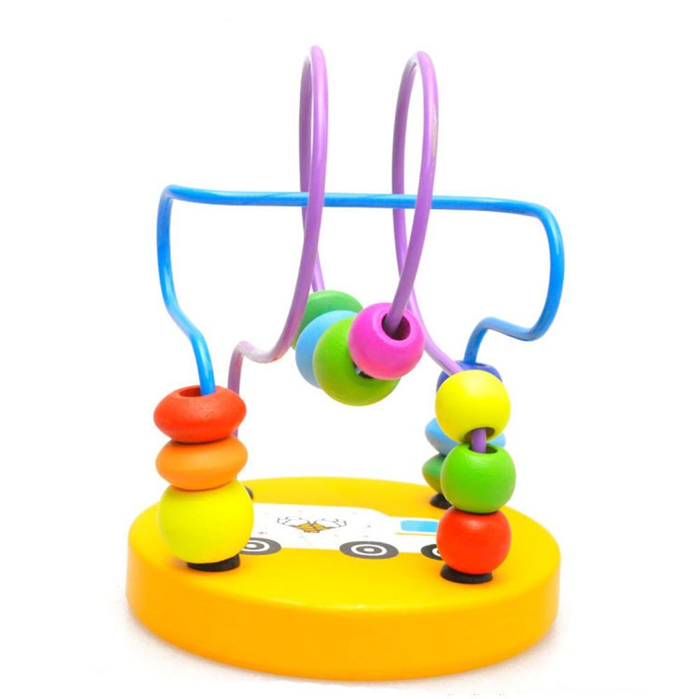 Children Wooden Around Beads Intelligence Toys