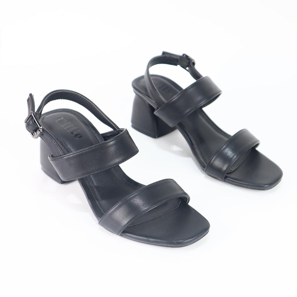 Sandal 2 quai ngang gót 5cm Cillie 1037