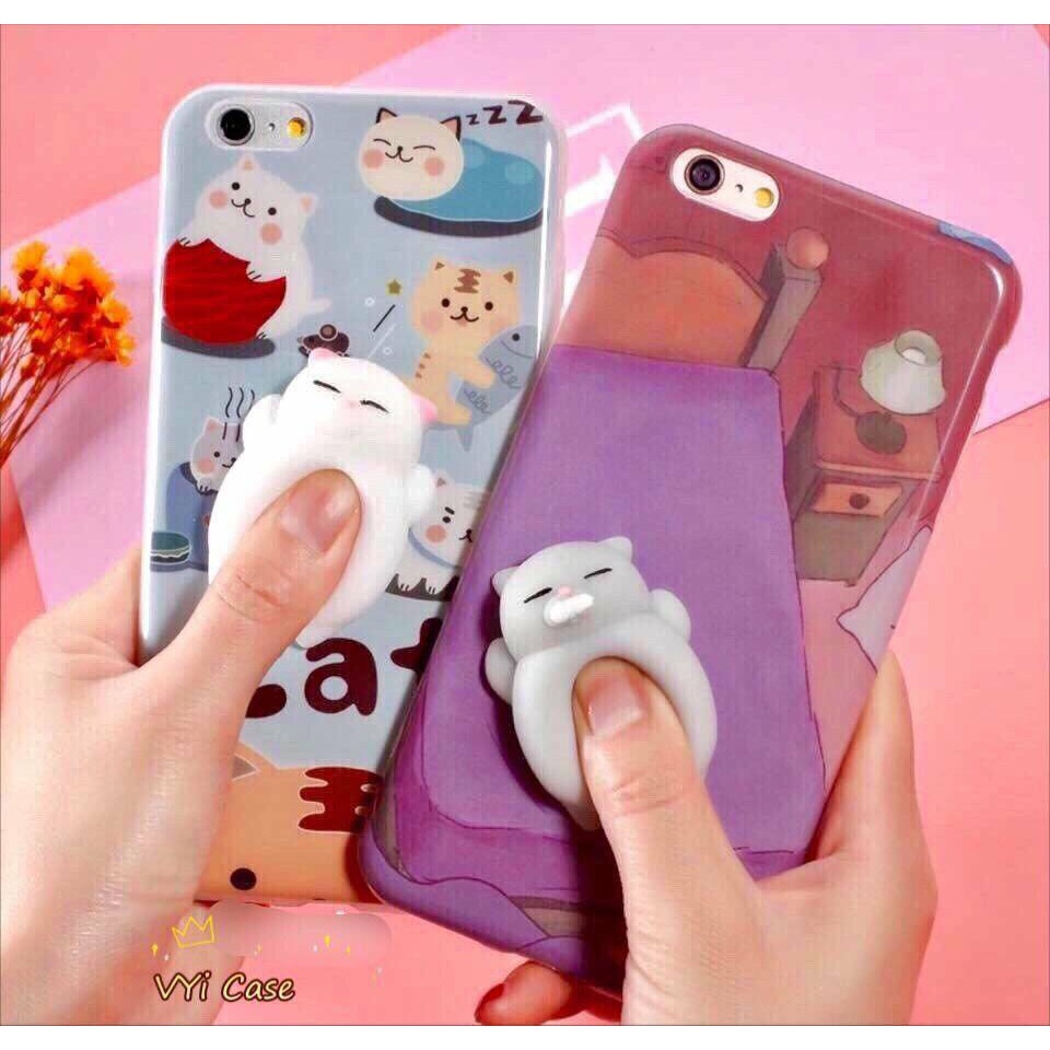 Ốp Lưng iPhone Mochi Squishy bóp nhấn nắn mềm mềm