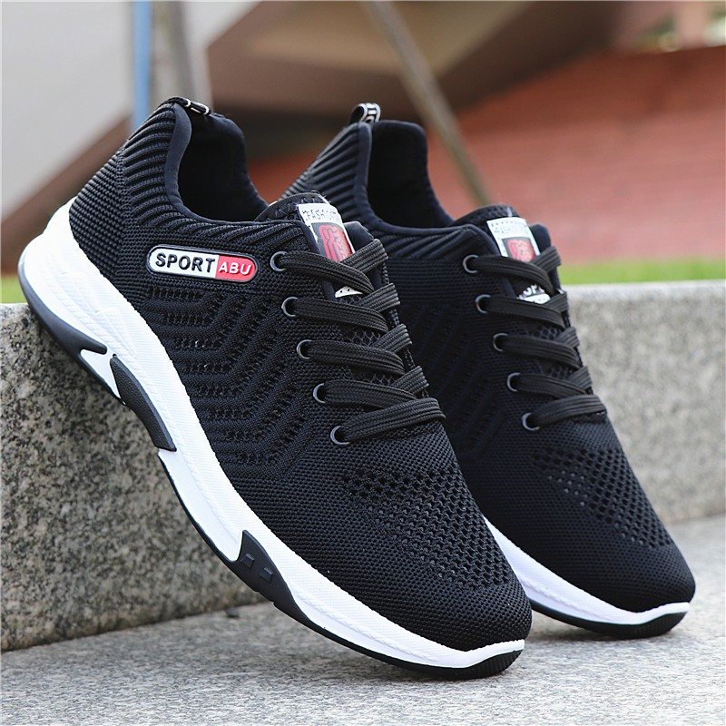 ◘✓●♨♤℡▣✹☽✾☬┇Male shoes sneakers breathable mesh in spring and summer 2019 hollow-out men casual fly weaving tide run