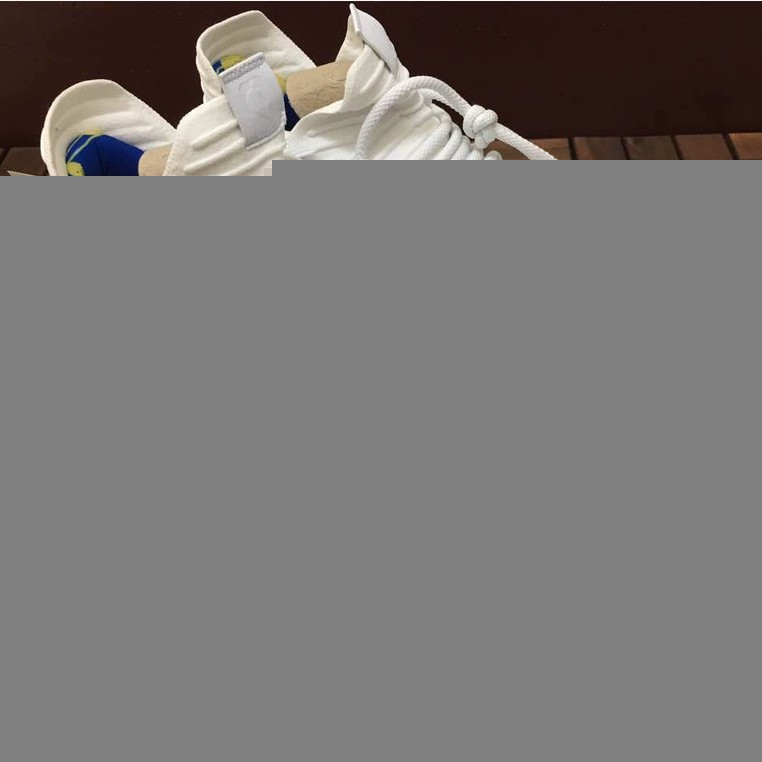 Nike Zoom KD 10 EP นักรบขาวทั้งหมดสีขาวสีน้ำเงินสีเหลือง 897816-101 รองเท้าบาสเก็ตบอลหน้าแรกการจับคู่สี